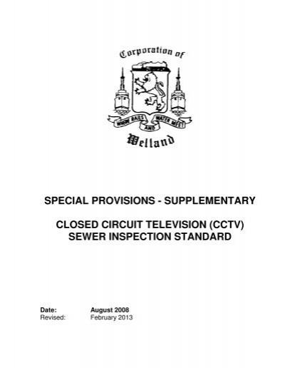 closed circuit television cctv sewer inspection standard. Black Bedroom Furniture Sets. Home Design Ideas