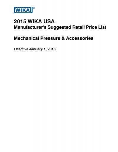 "Wika Instrument Corporation 611.10 2,5/"" P//N 9851682"