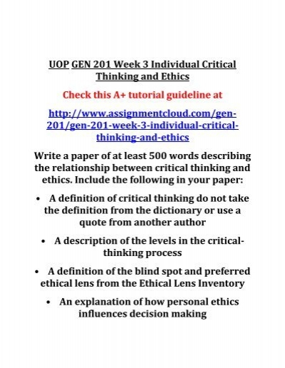 the influence of ethics on decision making essay