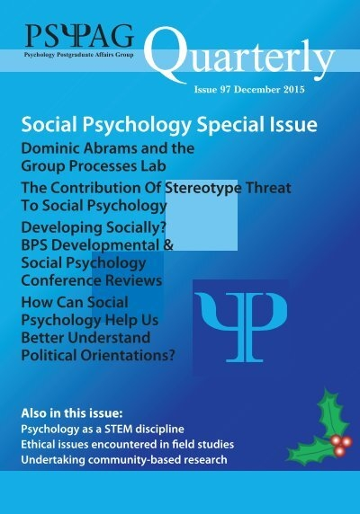social psychology issues