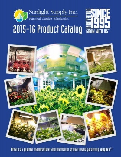 Sunlight supply product catalog 2015 16 for Garden products catalog