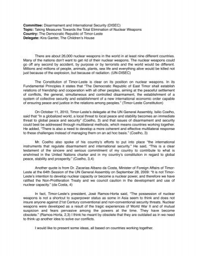 model un position paper 4 position papers a position paper is an essay detailing your country's policies on the topics being discussed in your committee hofstra's model un conference.