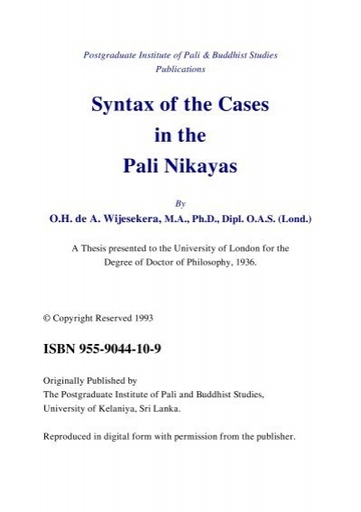 thesis of english syntax