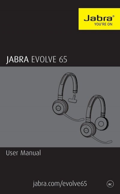 Jabra Evolve 65 Manual Revc En