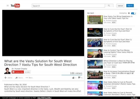 What are the Vastu Solution for South West Direction ? Vastu Tips