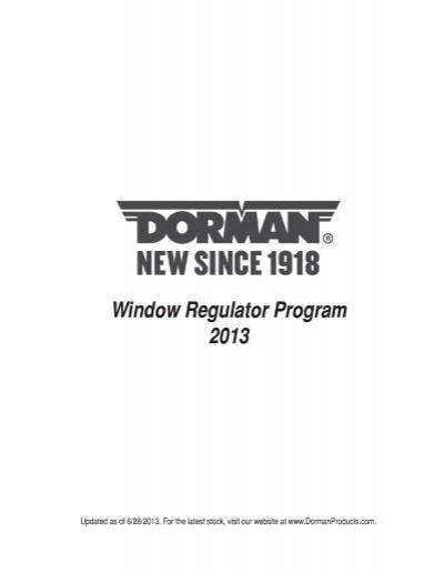 Dorman 752-123 Front Passenger Side Manual Window Regulator for Select ford Models