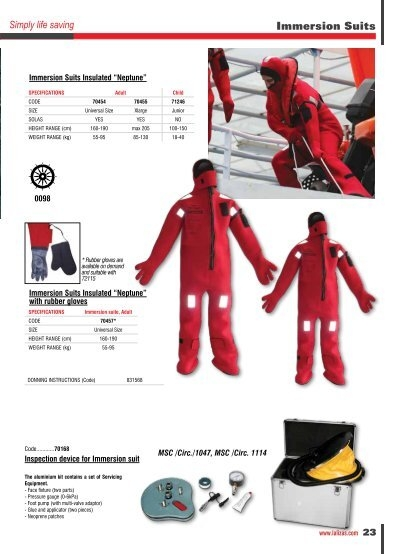 Immersion Suits 0098 Imme