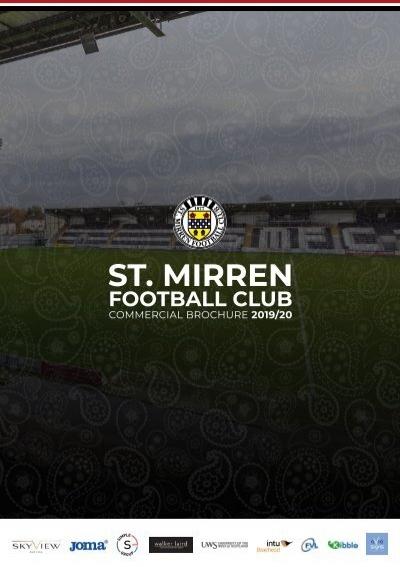 St Mirren football club mixer glass