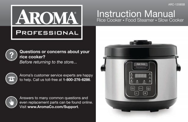 Aroma Professional Rice Cooker Instruction Manual Expert User Guide