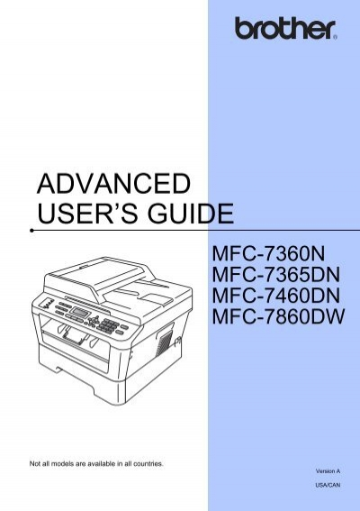 brother mfc 7860dw advanced user s guide rh yumpu com Brother Printer MFC-7860DW Driver Brother 7860DW Wireless Setup