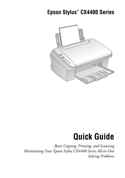 epson epson stylus cx4400 all in one printer quick reference guide rh yumpu com Epson Stylus NX420 Manual Epson Stylus NX420