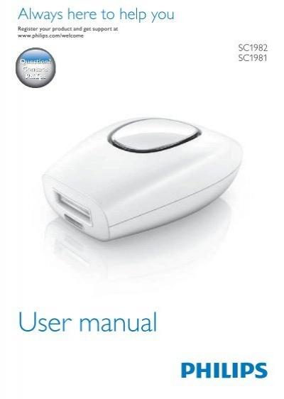 philips lumea comfort ipl hair removal system user manual brp rh yumpu com Philips TV User Manual Philips User Guides Speaker Bt7900