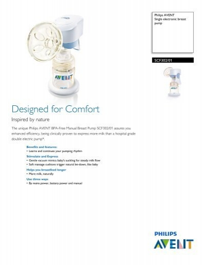 Philips Avent Single Electronic Breast Pump Leaflet Aen