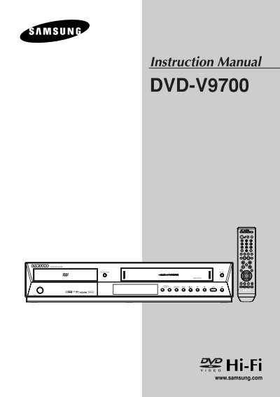 samsung dvd v9700 dvd v9700 xaa user manual english rh yumpu com Samsung TV Repair Manual Samsung User Manual Guide