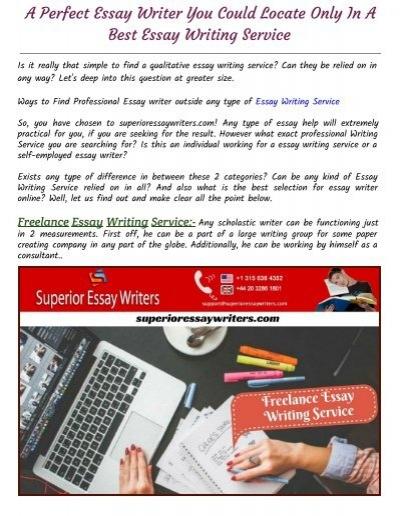 freelance essay writing