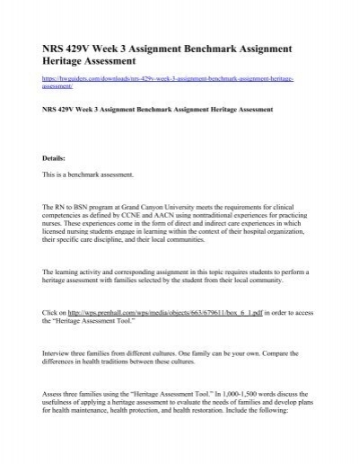 heritage assessment 2 essay Assessing the values of cultural heritage essays assessing values in tion of the processes of consultation and assessment of heritage values is not likely to.