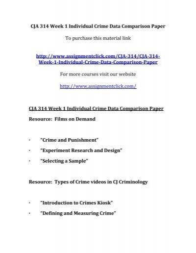 Crime data comparison paper cja 314