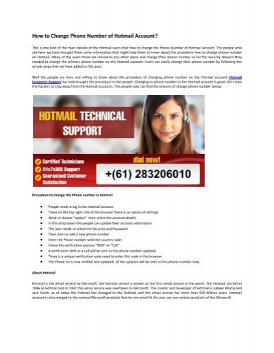 how to delete hotmail account on phone