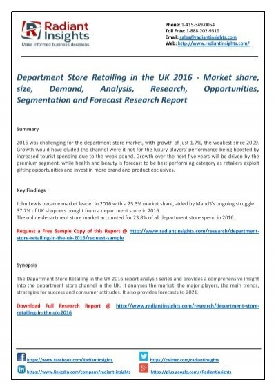 department store industry analysis in mexico The economist intelligence unit country industry  the economist intelligence unit  each report contains a broad overview followed by a detailed analysis.