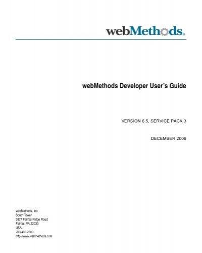 Webmethods Developer User S Guide Software Ag Documentation