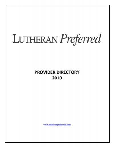 Lutheran Preferred ‐