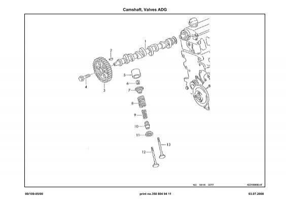 Camshaft Valves Adg 4231