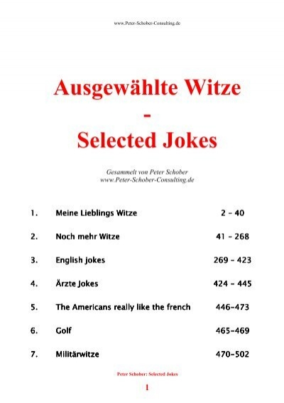 Ausgewählte Witze Selected Jokes Consulting Html Home