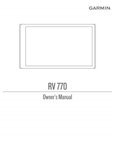 garmin rv 770 lmt s owner s manual pdf rh yumpu com dezl 770 user manual garmin 770 owner's manual