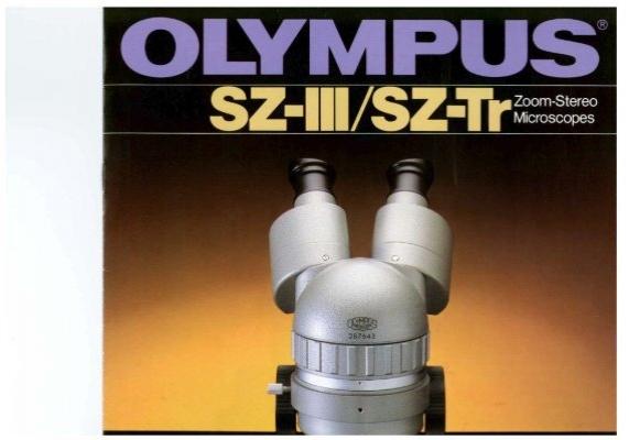 Olympus Sz Iii Sz Tr Zoom Stereo Microscopes