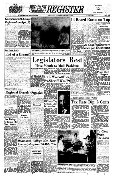 14 Board Races On Tap Tax Rate Dip Red Bank Register Archive