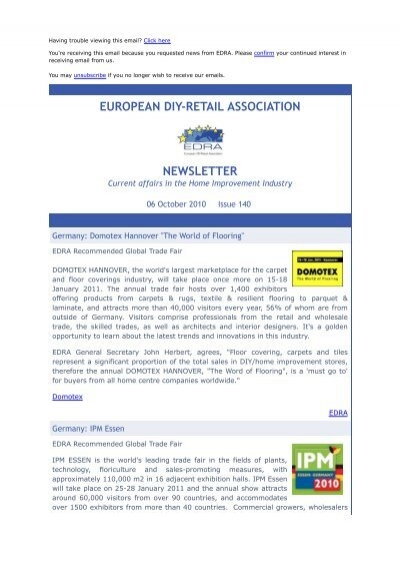 european diy-retail association newsletter - EDRA