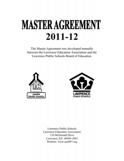The Master Agreement Was Developed Mutually Between Usd 497