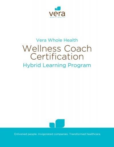 Wellness Coach Certification - Vera Fitness