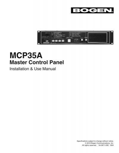 mcp35a master control panel manual bogen paging rh yumpu com User Training Online User Guide