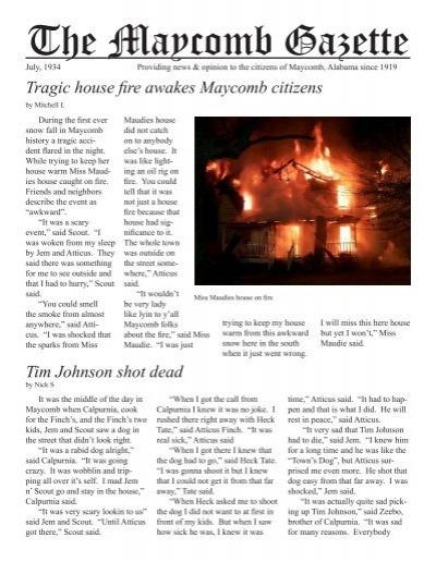 The Maycomb Gazette