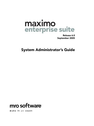 Ibm maximo enterprise adapter for sap applications 7. 6 system.