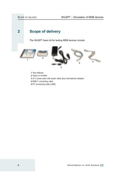 scope of delivery 2 scope