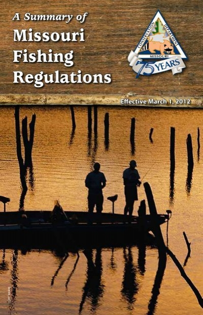 Missouri fishing regulations missouri department of for Missouri conservation fishing license