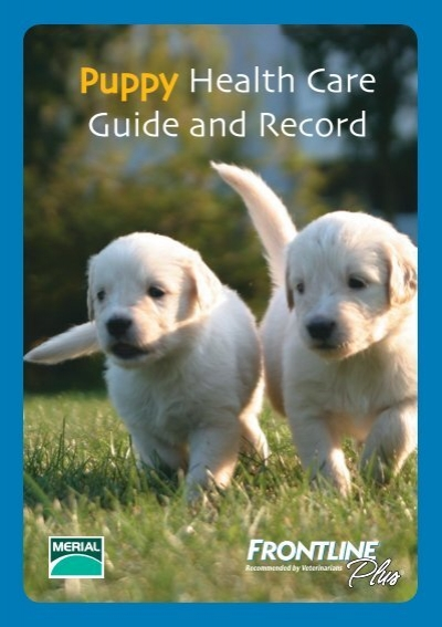 Puppy Health Care Guide And Record Frontline Plus