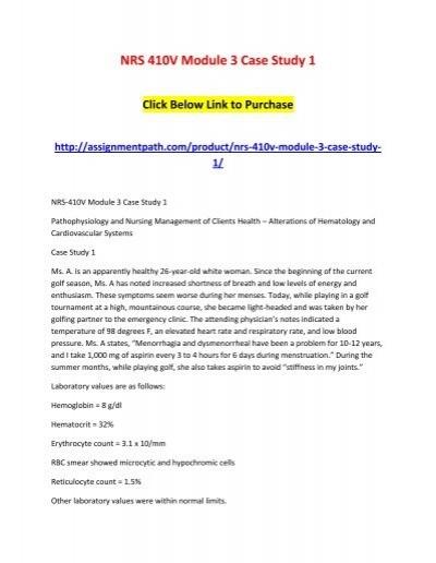 nrs 410v case study 1