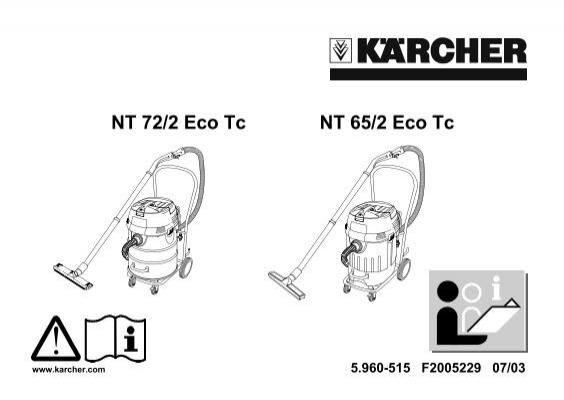NT 65//2 Eco 2x Filtre pour Kärcher NT 65//2 Ap NT 65//2 Eco Tc
