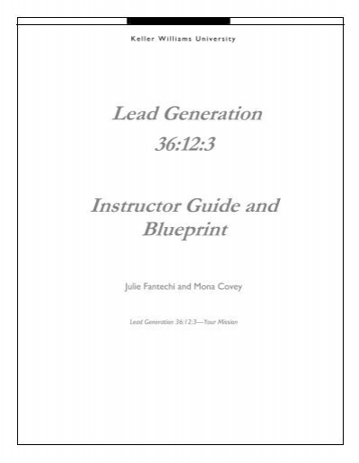 Lead generation 36123 instructor guide and blueprint malvernweather Image collections