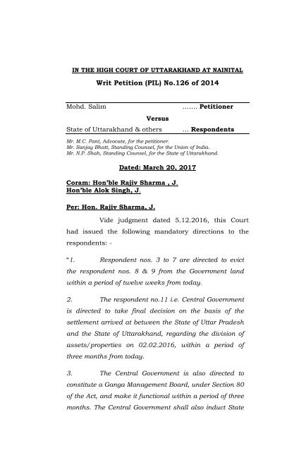 Writ Petition (PIL) No 126 of 2014