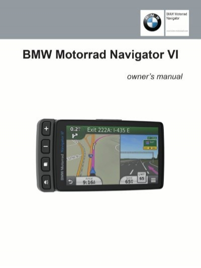 garmin bmw motorrad navigator vi owner 39 s manual pdf. Black Bedroom Furniture Sets. Home Design Ideas
