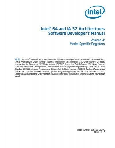 intel 64 and ia 32 architectures software developer s manual rh yumpu com intel 8086 programmer's reference manual pdf intel 80387 programmer's reference manual
