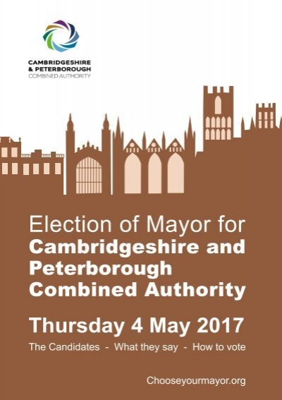 2017 Cambridgeshire and Peterborough mayoral election