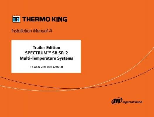 IngersollRand TAM7A0C36H31EA Installer Manual