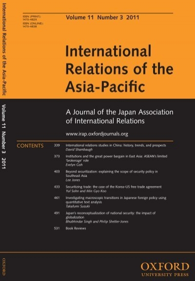 International Relations of the Asia-Pacific - Oxford Journals