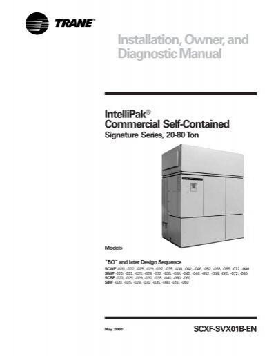 installation owner and diagnostic manual trane rh yumpu com DSM -5 Merck Diagnostic Manual