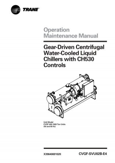chiller operation and maintenance pdf